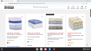 Bed Bath&Beyond website product page