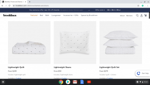 Brooklinen website product page