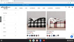 Eddie Bauer website product page