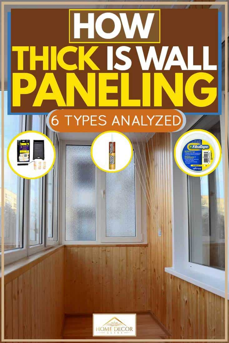 Wooden wall paneling and white framed sliding windows, How Thick Is Wall Paneling? [6 Types Analyzed]