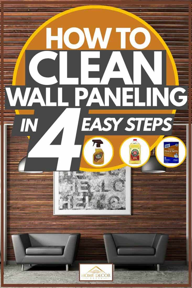 Wooden wall paneling with painting and hanging lamps, How to Clean Wall Paneling in 4 Easy Steps
