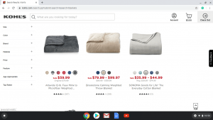 Kohl's website product page