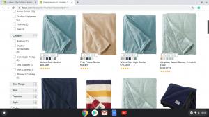 L.L. Bean website product page