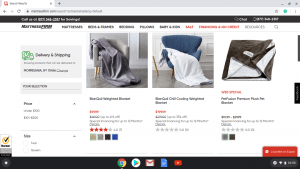 Mattress Firm website product page