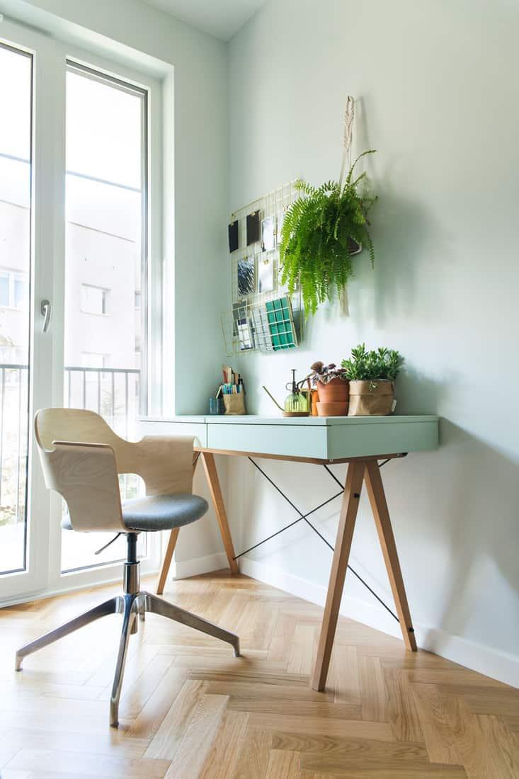 Modern scanidinavian interior of home office