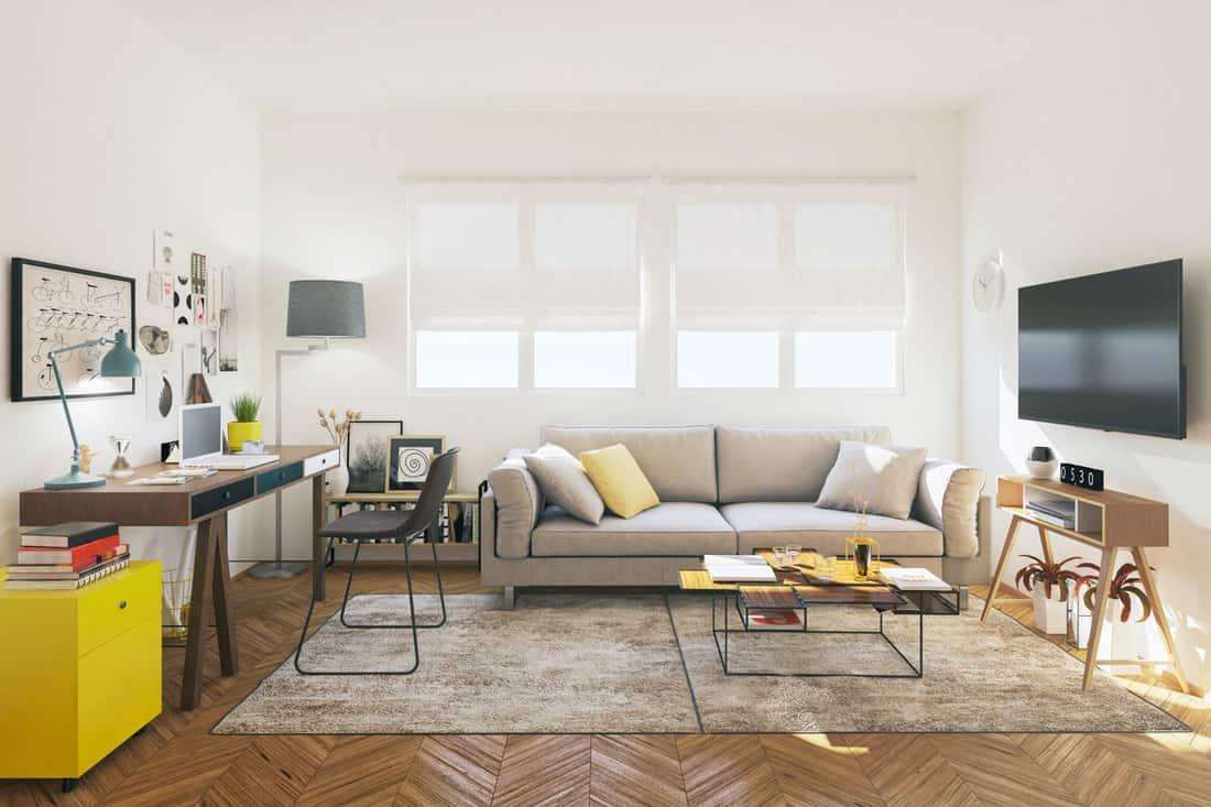 Picture of small apartment interior design.