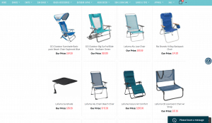Island Beach Gear website product page