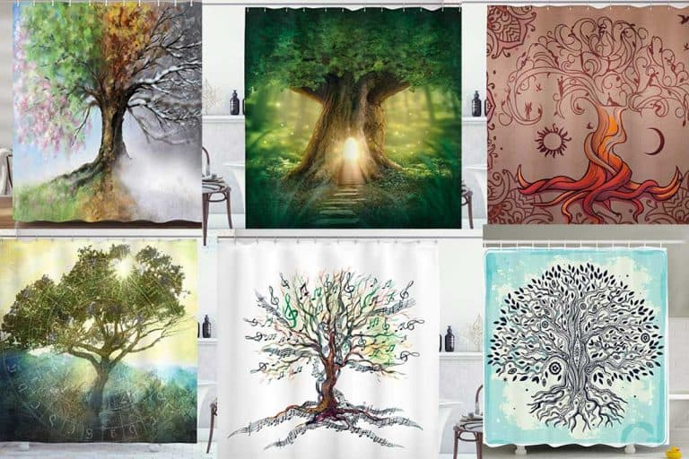 collage of gorgeous tree of life shower curtains, Tree of Life Shower Curtains: 10 Gorgeous Designs To Choose From