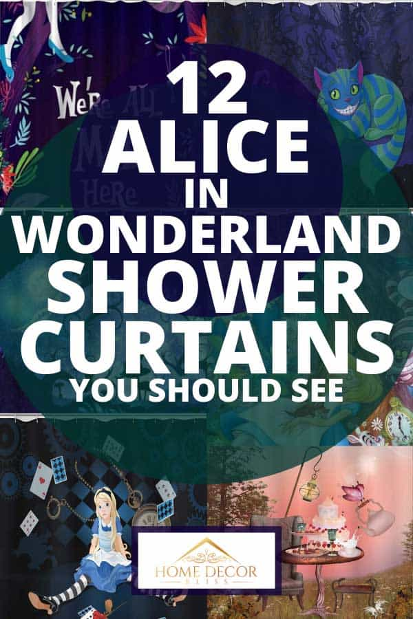 12 Alice In Wonderland Shower Curtains You Should See Home Decor Bliss