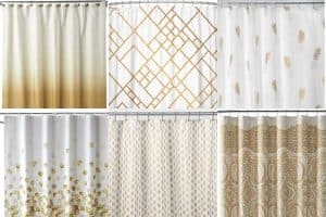 12 White And Gold Shower Curtains To Check Out