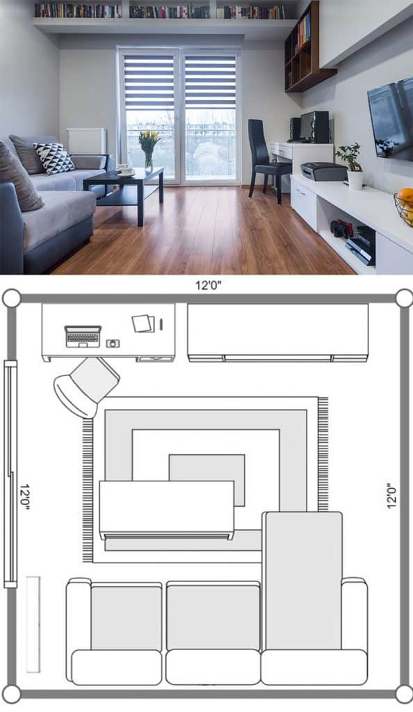 7 Square Living Room Layout Ideas Including 12x12 Living Rooms Home Decor Bliss