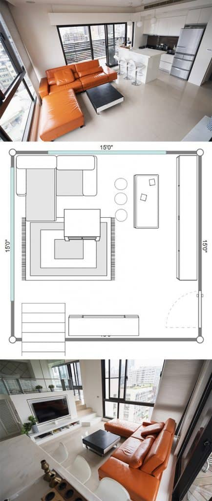 High-rise-condo-square-living-room-with-penthouse-grade-windows-and-a-kitchen-with-bar-pin