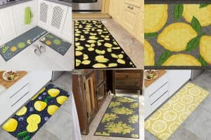 12 Beautiful Lemon-Themed Kitchen Rugs