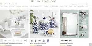 Ballard Designs page for bathroom accessories