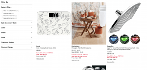 Macy's page for bathroom accessories