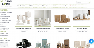 Hudson & Vine page for bathroom accessories