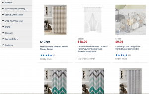 Sears page for bathroom accessories