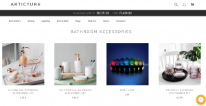 Articture page for bathroom accessories