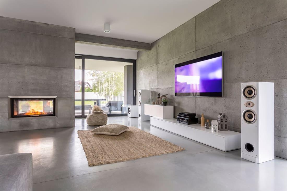 Boho Fireplace Decor With Tv