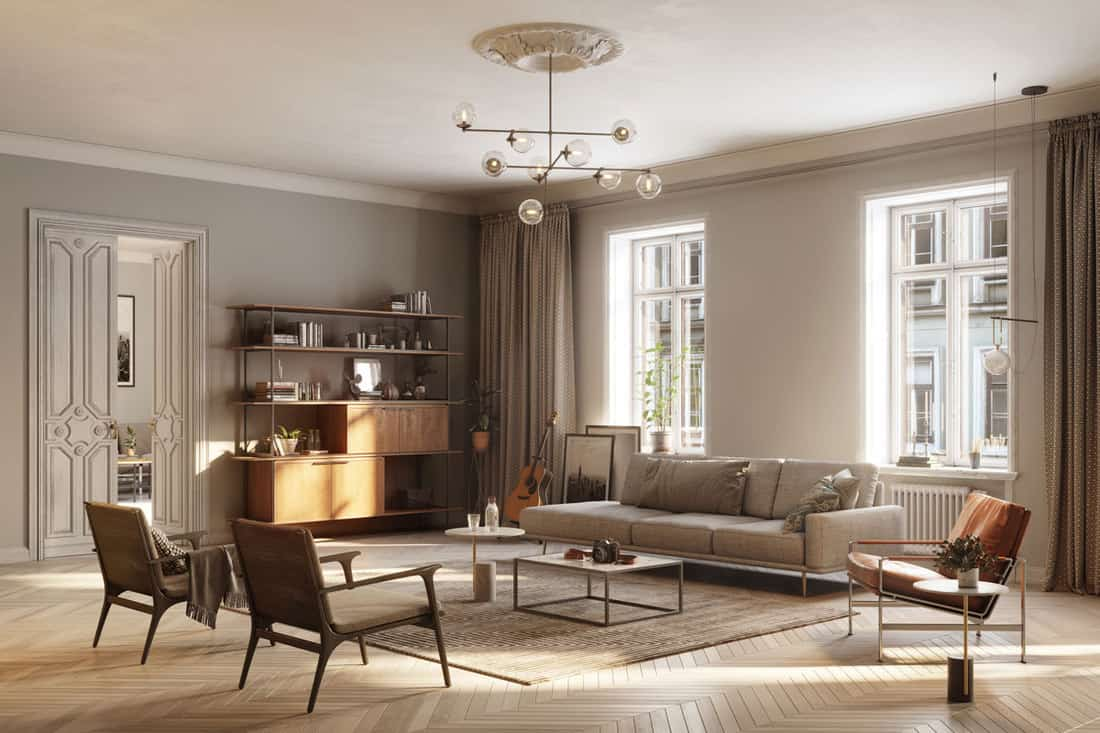 large and full furnished living room
