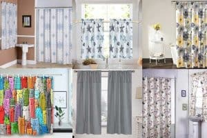 Read more about the article 11 Matching Shower And Window Curtains Sets For Your Bathroom