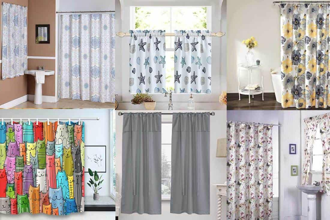 11 Matching Shower And Window Curtains Sets For Your Bathroom Home Decor Bliss