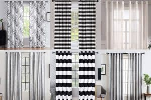 13 Black and White Striped Curtains That Will Delight You