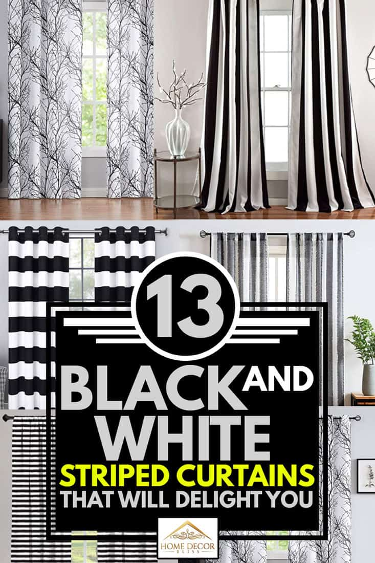 13 Black And White Striped Curtains That Will Delight You Home Decor Bliss