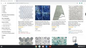 Bathroom tiles online on Amazon's page.
