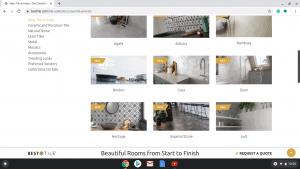Bathroom tiles online on Best tile's page.