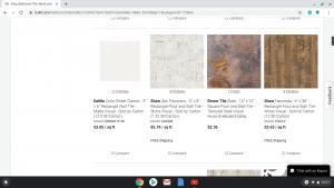 Bathroom tiles online on build.com's page.