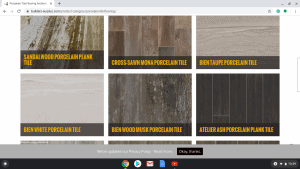 Bathroom tiles online on Builder's Surplus page.
