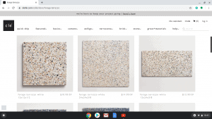 Bathroom tiles online on Cle tile's page.
