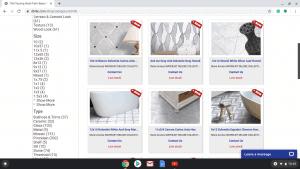 Bathroom tiles online on D&B Tile's page.