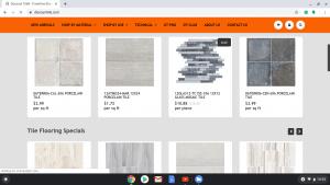 Bathroom tiles online on Discount Tile's page.