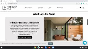 Bathroom tiles online on Fireclay tiles's page.