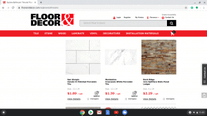 Bathroom tiles online on Floor & Decor's page.