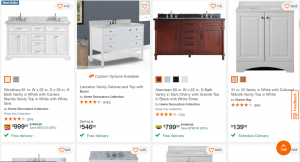 Home Depot website product page