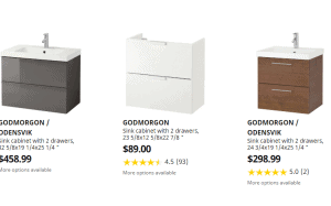 Ikea website product page