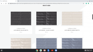 Bathroom tiles online on LMP Home's page.
