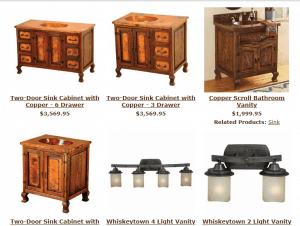 Lone Star Western Decor website product page