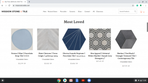 Bathroom tiles online on Mission Stone Tile's page.