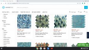 Bathroom tiles online on Oasis Tile's page.