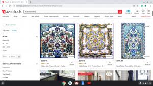 Bathroom tiles online on Overstock's page.