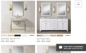Restoration Hardware website product page