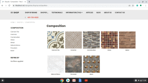 Bathroom tiles online on Tiles Direct's page.