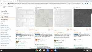 Bathroom tiles online on The Home Depot's page.