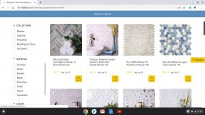 Bathroom tiles online on Tile Club's page.