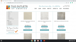 Bathroom tiles online on Tile outlets of America's page.