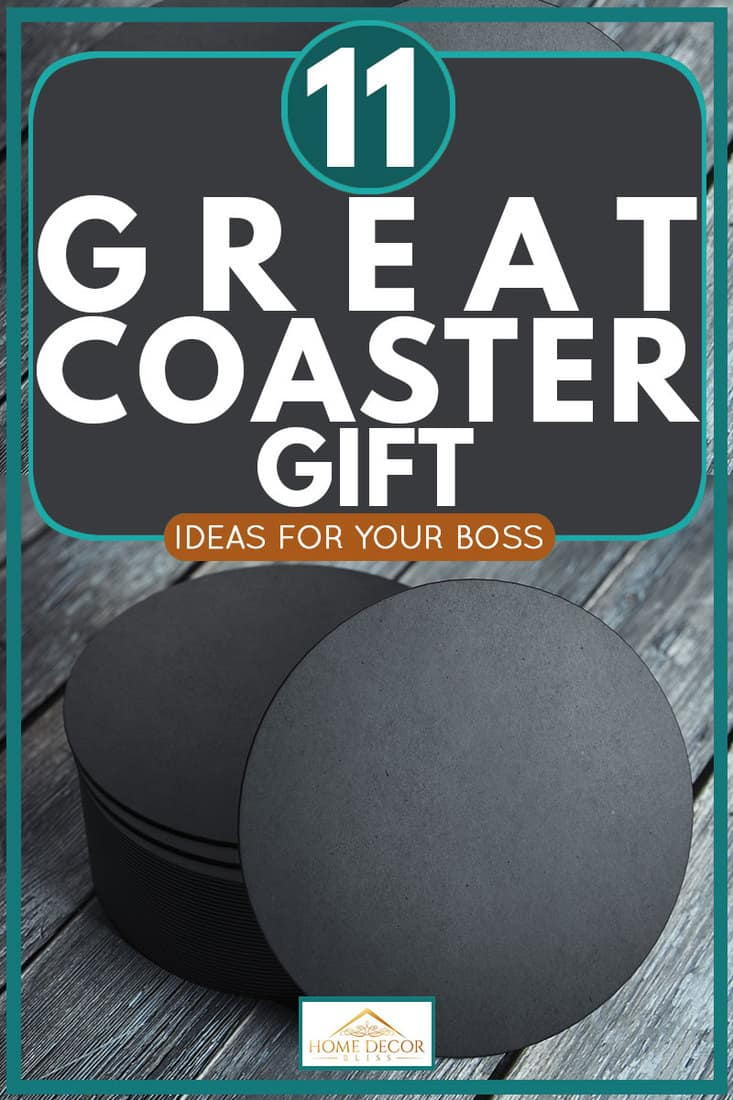 Coaster placed on a grey wooden table, 11 Great Coaster Gift Ideas For Your Boss